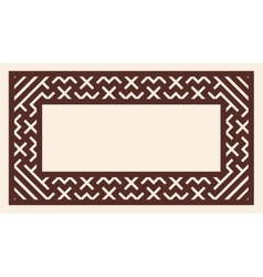 Greek style frame ornament vector