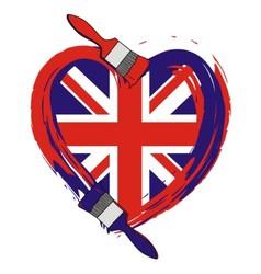 Grunge England flag vector image vector image