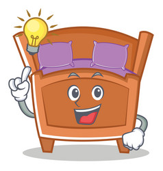 Have an idea cute bed character cartoon vector