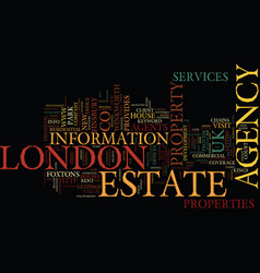 London estate agency text background word cloud vector