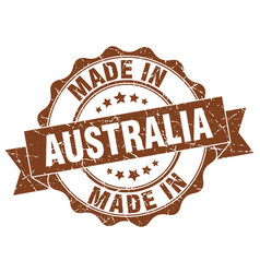 Made in australia round seal vector
