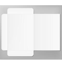 Open folder mock up vector