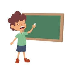 School boy class board vector