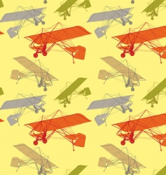 Seamless pattern gliders vector