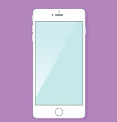 White smartphone with blank screen vector image vector image