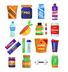Sport and fitness nutrition and dietary vector