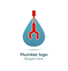 plumbing company logo vector image