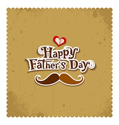 Happy father day vintage greeting card vector