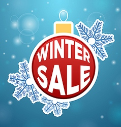 Reflection on the ball Winter Sale vector image
