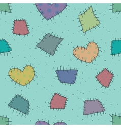 Seamless pattern with patchwork vector