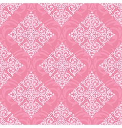 Seamless baroque damask luxury pink background vector