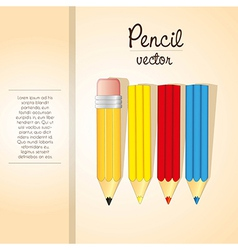 Elegant background of colored pencils stripe and s vector