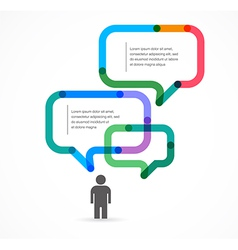 Speech bubble concept background and infographic vector