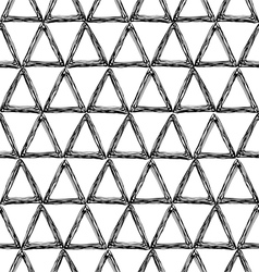 Seamless pattern with a triangle vector