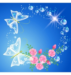 Bubbles and roses vector
