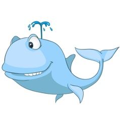 Cartoon character whale vector