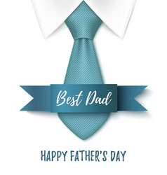 Best dad happy fathers day background vector