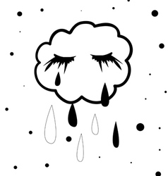 Crying cloud vector