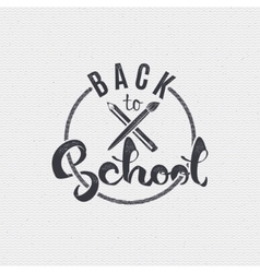 Back to school - labels stickers hand lettering vector