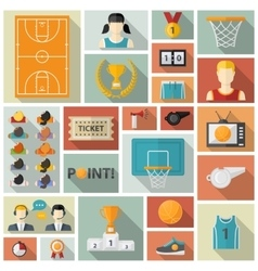 Basketball collection vector image