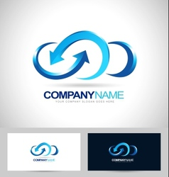 business cloud blue vector image vector image