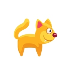 Cat Simplified Cute vector image vector image