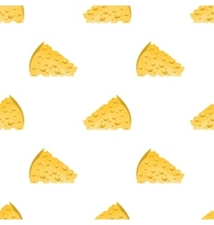 Cheese slices seamless pattern milk product vector