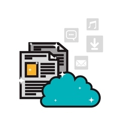 Cloud storage and internet related icons image vector