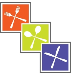 Cutlery abstract sign vector image