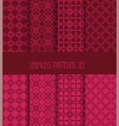 decorative line tile backgrounds vector image vector image