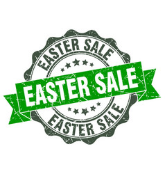 easter sale stamp sign seal vector image