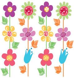 flowers pattern 2 vector image
