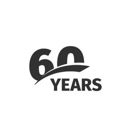 Isolated abstract black 60th anniversary logo on vector