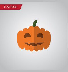 Isolated pumpkin flat icon gourd element vector
