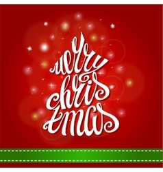 Merry christmas greeting cardfir tree lettering vector