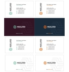 Parquet business card 2 vector