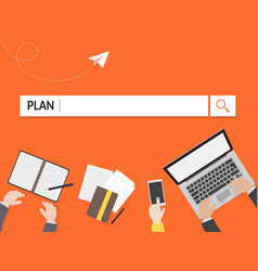 Plan search graphic for business vector