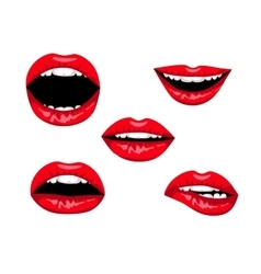red woman lips vector image