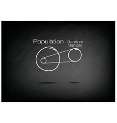 research process sampling from a target population vector image vector image