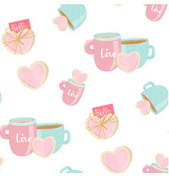 seamless pattern in pastel colors with sweet vector image