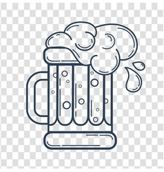 silhouette glass of beer linear style vector image vector image