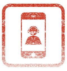 Smartphone operator contact portrait framed vector
