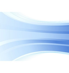 Smooth blue wave background vector