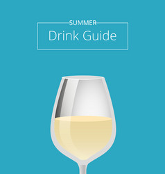 summer drink guide advertising poster with glass vector image