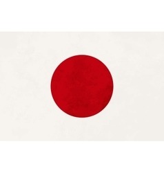 True proportions Japan flag with texture vector image