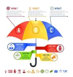 Umbrella infographics set vector