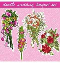 wedding bouquet vector image vector image