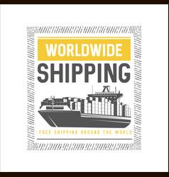 Worldwide shipping design template vector