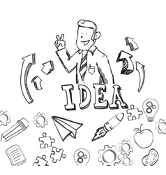 big idea sketch design vector image
