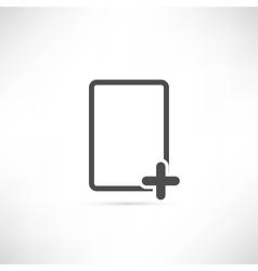 Empty Plus Icon vector image